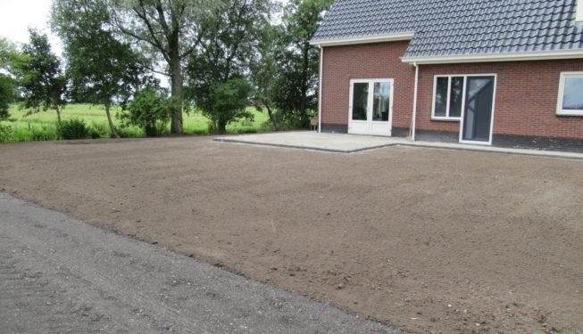tuin geëgaliseerd Friesland